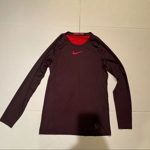 Nike Pro long sleeve shirt  Dri-fit fitted